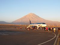 El Misti from Rodriguez Ballon International Airport, Arequipa, Peru.jpg