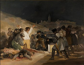 The Third of May 1808 by Francisco Goya, showi...