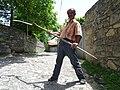 Elderly Farmer Plays Grim Reaper - Village of Kis - Near Sheki - Azerbaijan - 02 (18081439830).jpg