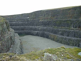 Eldon Hill - Part of the quarry workings on the north west side of Eldon Hill