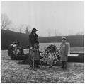 Eleanor Roosevelt at Franklin D. Roosevelt gravesite in Hyde Park, New York - NARA - 195954.tif