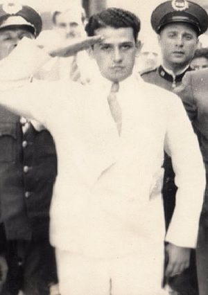 Cadets of the Republic - Elias Beauchamp gives a cadet military salute, moments before being summarily executed at police headquarters