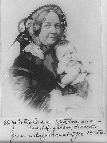 English: Elizabeth Cady Stanton and her daught...