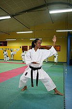 2005 junior French karate champ Emmanuelle Fumonde, Sainte-Suzanne (Réunion)