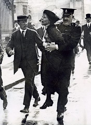 Suffragette (women's rights movement) Emmeline...