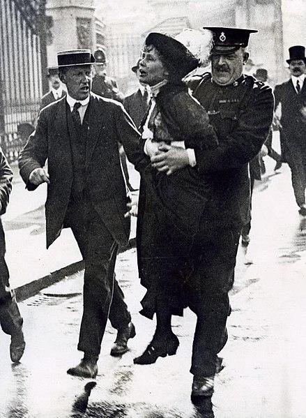 File:Emmeline Pankhurst Arrested 1907-1914.jpg