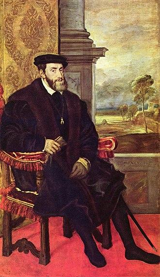Lorenzino de' Medici - Titian, Charles V in Augsburg in 1548