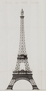 Draft Eiffel Tower - Stephan Sauvestre (1887) .jpg