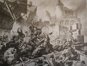 1356 Basel earthquake - Basel earthquake as envisioned by Karl Jauslin.