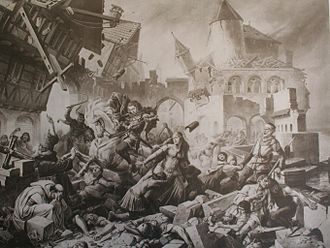 1356 Basel earthquake - Basel earthquake as envisioned by Karl Jauslin