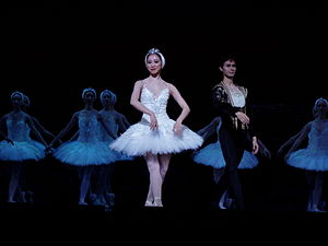 Erina Takahashi - Erina Takahashi as Odette and César Morales as Prince Siegfried in the English National Ballet production of Swan Lake, evening performance at the Mayflower, Southampton on 17 November 2007.