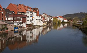 Werra - Image: Eschwege Houses on the river Werra