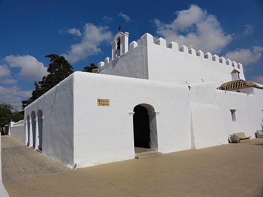 Wehrkirche von Sant Jordi de ses Salines (Ibiza, Balearen). Església de Sant Jordi - perspectiva
