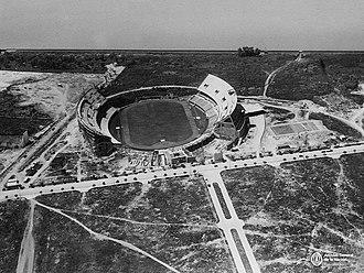 Estadio Monumental Antonio Vespucio Liberti - The stadium under construction.