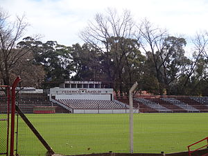 Club Atlético River Plate (Montevideo) - A view of Saroldi's pitch from the visitors' entrance