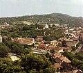 Esztergom, kilátás a várhegyről, szemben a Szent Tamás-hegy. Fortepan 21759.jpg