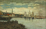Eugene Boudin. Sea port.jpg