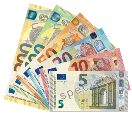 Euro banknotes Europa series