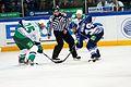 Evgeny Korotkov and Viktor Kozlov 2011-09-24 Amur—Salavat KHL-game.jpeg