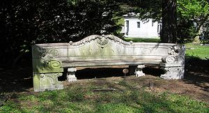 Exedra - Exedra tombstone