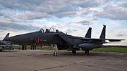F-15E strike eagle 91-0304-LN before crash