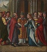 Le mariage de la Vierge, détail