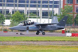 Textron AirLand Scorpion - A Scorpion at the Farnborough International Airshow, July 2014