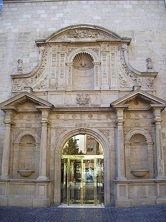 Logroño - Façade of Parliament of La Rioja in Logroño.