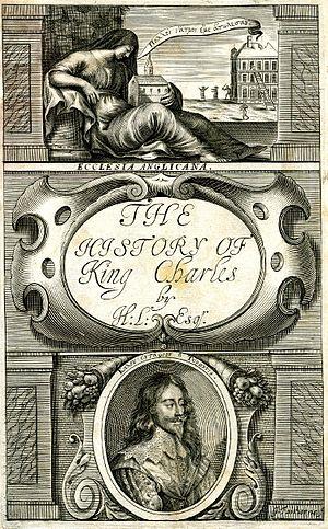 Hamon L'Estrange - Title page by William Faithorne for L'Estrange's The History of King Charles.