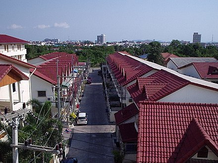 A gated community (muban chat san) in Pattaya, Chonburi Province Family houses, Pattaya, Thailand - panoramio.jpg