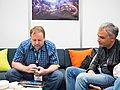 Feargus Urquhart and Sergey Orlovsky at E3 2013 (1).jpg