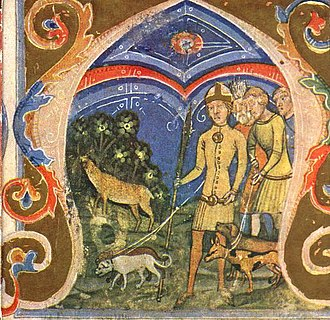 "Hungarian prehistory - The ""legend of the wondrous hind"" depicted in the Illuminated Chronicle"