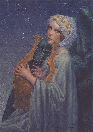 Femme lyre