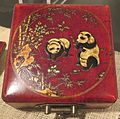 Feng shui compass box from China, lacquer on wood and brass, 20th century.JPG