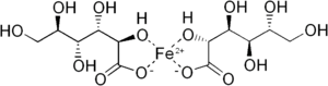 Strukturformel von Eisengluconat