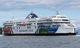 Departure Bay, British Columbia - The BC Ferry Coastal Celebration arrives at Departure Bay on June 18, 2008, after completing a 40-day delivery voyage from Flensburg, Germany.