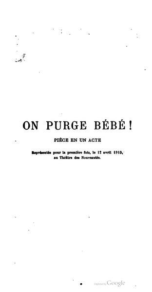 File:Feydeau - On purge bébé !, 1910.djvu