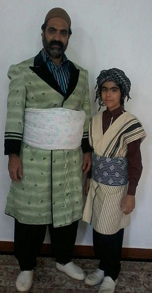 Feyli Lurs - Male Feyli Lurish clothing in Iran