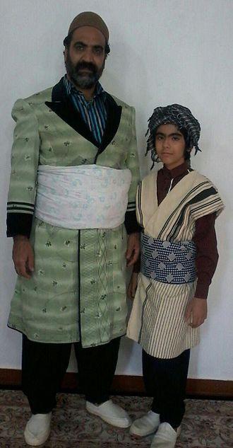 Feyli Lurs - Male Feyli Lurish clothing in Iran