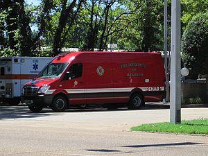 Fire department rehab - A rehab unit of the Memphis Fire Department.