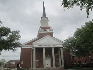 Hillsboro, Texas - First Baptist Church in Hillsboro; pastor, Danny J. Gilliam (2013)