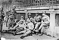 First World War, tableau, men, uniform, weapon, relaxation, gun Fortepan 22900.jpg