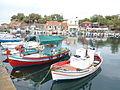 Fischerboote in Mithymna.JPG