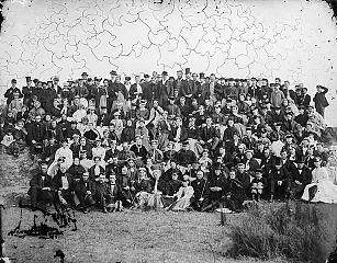 Fitzclarence St (CM) Sunday school trip at New Ferry (1868)