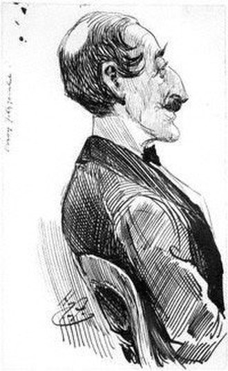 Percy Hetherington Fitzgerald - Fitzgerald caricatured by Harry Furniss c.1890