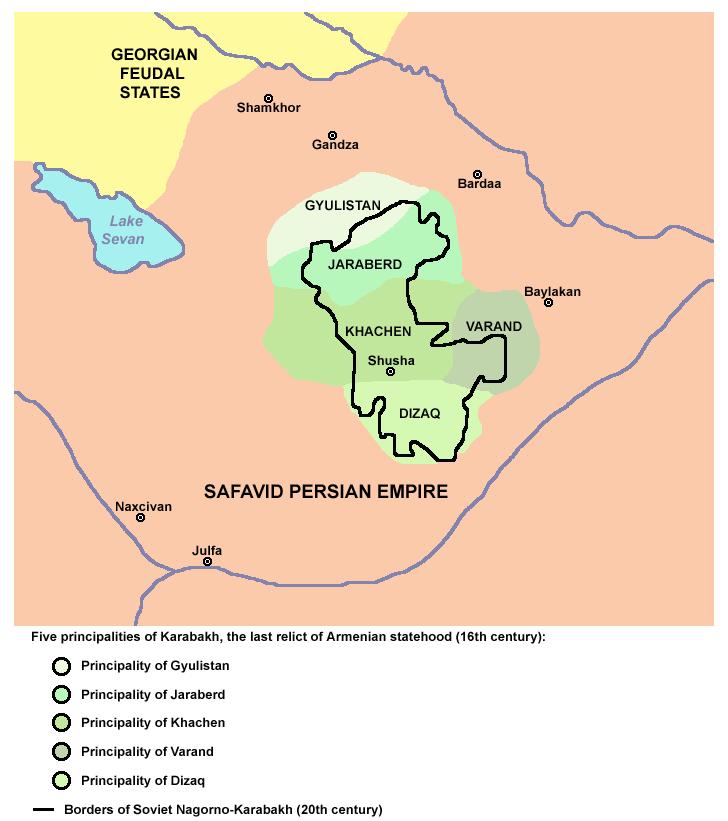 Five principalities of karabakh