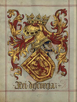 Royal Arms of Scotland - The arms in the Portuguese Livro de Armerio-Mor, c. 1509