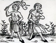 Flagellants practiced self-flogging (whipping of oneself) to atone for sins. The movement became popular after general disillusionment with the church's reaction to the Black Death.