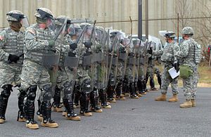 West Virginia National Guard - WVARNG Quick Reaction Force train in Washington, D.C., prior to the 2009 Presidential inauguration.