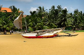 Negombo - A traditional fishing boat